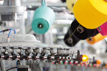 Stickmaschine in der Industrie